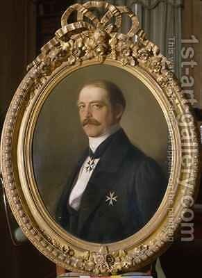 Otto von Bismarck as Prussia's Envoy to the Diet of the German Confederation in Frankfurt by Jakob Becker - Reproduction Oil Painting