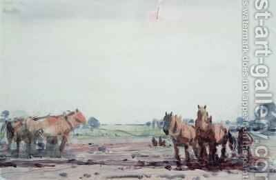 Plough Horses by Harry Becker - Reproduction Oil Painting