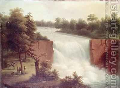 View of the Genesee Falls by Comte de Beaujolais - Reproduction Oil Painting