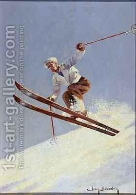 A Skier by Jean Beaudoin - Reproduction Oil Painting