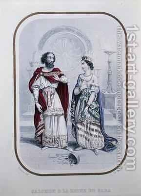 King Solomon and the Queen of Sheba by (after) Beauce, Jean Adolphe - Reproduction Oil Painting