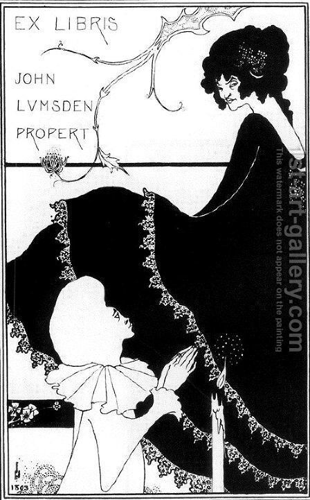 Ex-Libris by John Lumsden Propert by Aubrey Vincent Beardsley - Reproduction Oil Painting