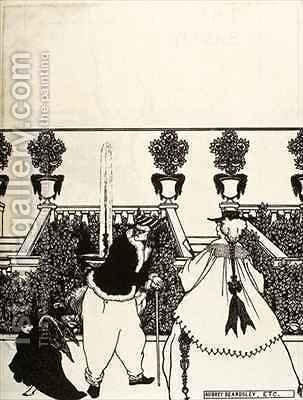 Cupid walks through the Garden, Front Cover Design for 'The Savoy' by Aubrey Vincent Beardsley - Reproduction Oil Painting