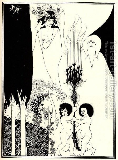 The Eyes of Herod, Salome by Aubrey Vincent Beardsley - Reproduction Oil Painting
