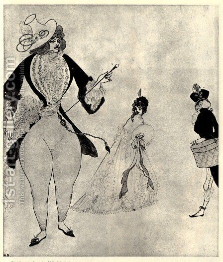 D'Albert in search of his ideals by Aubrey Vincent Beardsley - Reproduction Oil Painting