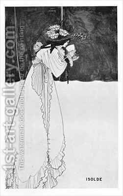 Isolde Drinking the Poison 2 by Aubrey Vincent Beardsley - Reproduction Oil Painting