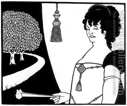 Madame Rejane 2 by Aubrey Vincent Beardsley - Reproduction Oil Painting