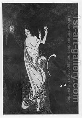 Fourth Tableau of Das Rheingold 2 by Aubrey Vincent Beardsley - Reproduction Oil Painting