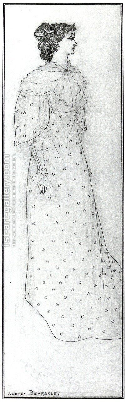 Mrs Winifred Emery by Aubrey Vincent Beardsley - Reproduction Oil Painting