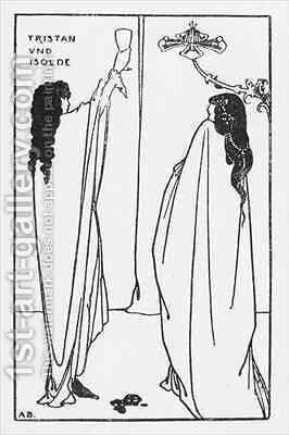 A Repetition of Tristan und Isolde by Aubrey Vincent Beardsley - Reproduction Oil Painting