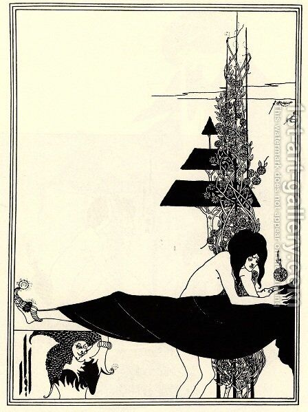 The Platonic Lament by Aubrey Vincent Beardsley - Reproduction Oil Painting