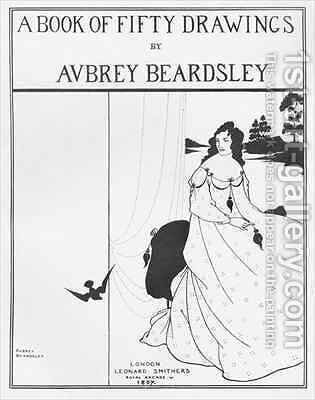 Title Page for 'A Book of Fifty Drawings' by Aubrey Vincent Beardsley - Reproduction Oil Painting