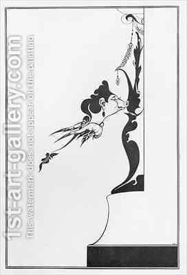 Front Cover of 'The House of Sin' by Aubrey Vincent Beardsley - Reproduction Oil Painting
