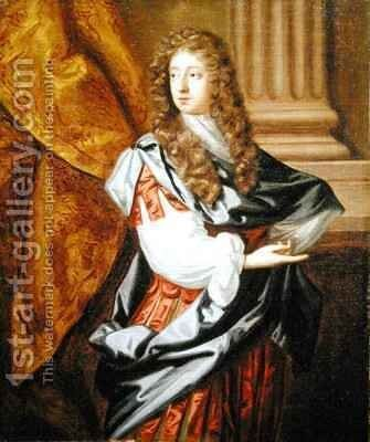 Portrait of Sir Thomas Isham Bt. (1657-81) by Mary Beale - Reproduction Oil Painting