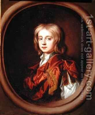 Portrait of Sir Basil Dixwell, Bt. (1665-1750) by Mary Beale - Reproduction Oil Painting