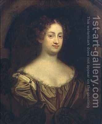 Portrait of Louise Renee Kerouaille, Duchess of Portsmouth and Aubigny (1649-1734) by Mary Beale - Reproduction Oil Painting