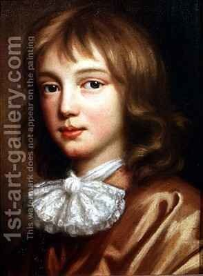 Portrait of the artist's son by Mary Beale - Reproduction Oil Painting