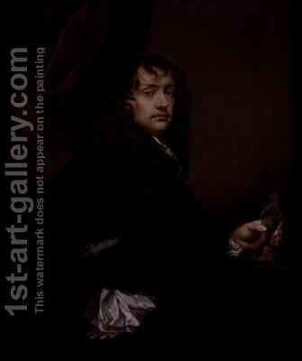 Portrait of Sir Peter Lely (1618-80) by Charles Beale - Reproduction Oil Painting