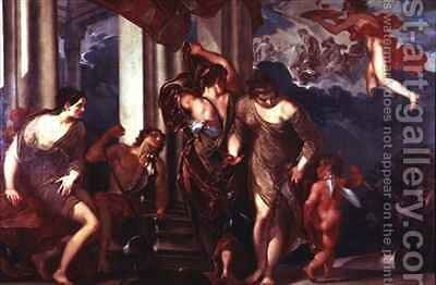 The Judgement of Paris by Giuseppe Bazzani - Reproduction Oil Painting