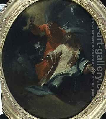 Christ at the Mount of Olives by Giuseppe Bazzani - Reproduction Oil Painting