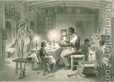 Uncle Tom's Cabin, plate 1 from 'Uncle Tom's Cabin' by (after) Bayot, Adolphe Jean-Baptiste - Reproduction Oil Painting