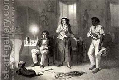Legree, Cassy and Sambo, plate 10 from 'Uncle Tom's Cabin' by (after) Bayot, Adolphe Jean-Baptiste - Reproduction Oil Painting