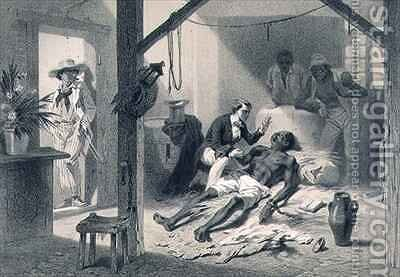 The Death of Uncle Tom, plate 11 from 'Uncle Tom's Cabin' 2 by (after) Bayot, Adolphe Jean-Baptiste - Reproduction Oil Painting