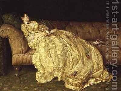 Day Dreams by Alfred Walter Bayes - Reproduction Oil Painting