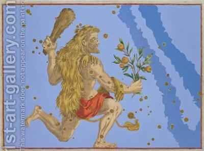 Constellation of Hercules Lion's Pelt, from 'Uranometria' by (after) Bayer, Johann - Reproduction Oil Painting