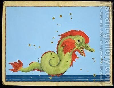 Constellation of Pisces, from 'Uranometria' by (after) Bayer, Johann - Reproduction Oil Painting