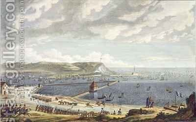 View of the Port and the Roadstead of Boulogne at the Departure of the Flotilla by (after) Baugean, Jean Jerome - Reproduction Oil Painting