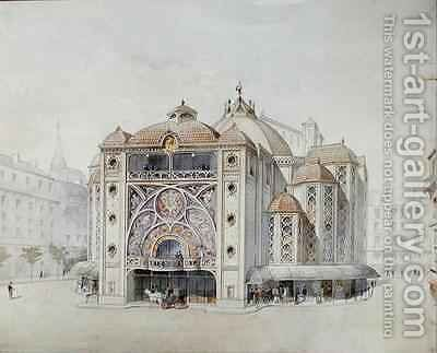 Design for an Ideal Theatre by Anatole de Baudot - Reproduction Oil Painting