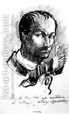Self Portrait 3 by Charles Pierre Baudelaire - Reproduction Oil Painting