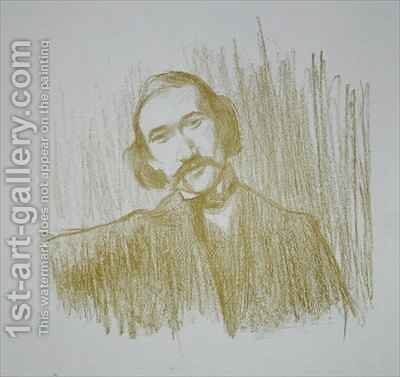 Andre Gide (1861-1942) by Henry Bataille - Reproduction Oil Painting