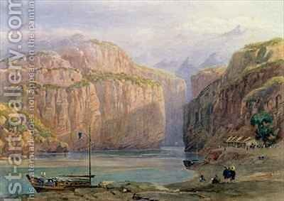 Yangtze Gorges, China by Dr A. Barton - Reproduction Oil Painting