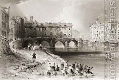 Old Baal's Bridge, Limerick, Ireland by (after) Bartlett, William Henry - Reproduction Oil Painting