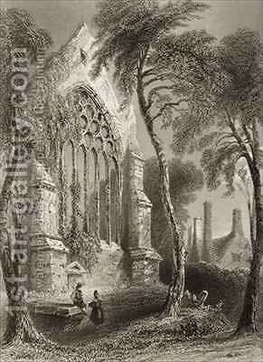 Youghal Abbey, County Cork, Ireland by (after) Bartlett, William Henry - Reproduction Oil Painting