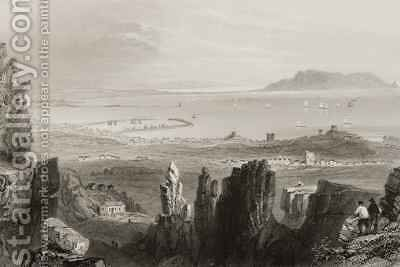 Dublin Bay from Kingstown Quarries by (after) Bartlett, William Henry - Reproduction Oil Painting