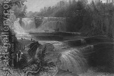Trenton High Falls by (after) Bartlett, William Henry - Reproduction Oil Painting