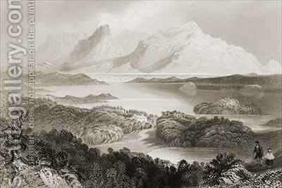 Lake Garromin, Connemara, County Galway by (after) Bartlett, William Henry - Reproduction Oil Painting