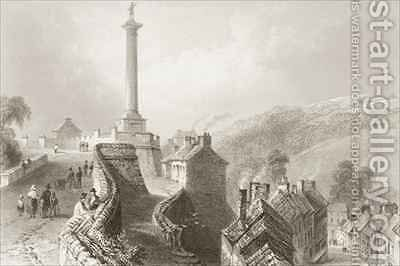 Walls and Walker's Pillar, Londonderry by (after) Bartlett, William Henry - Reproduction Oil Painting