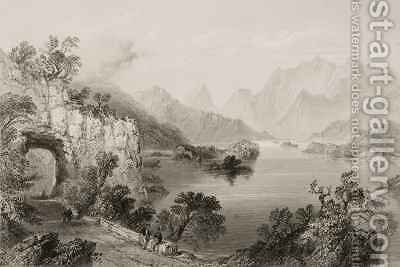 The Upper Lake at Killarney, County Killarney, Ireland by (after) Bartlett, William Henry - Reproduction Oil Painting