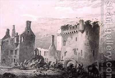 Castle of Loghort, County Cork, Ireland by (after) Bartlett, William Henry - Reproduction Oil Painting