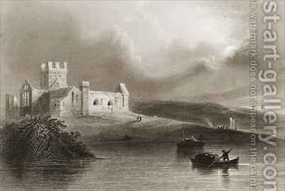 Dunbrody Abbey, County Wexford, Ireland by (after) Bartlett, William Henry - Reproduction Oil Painting