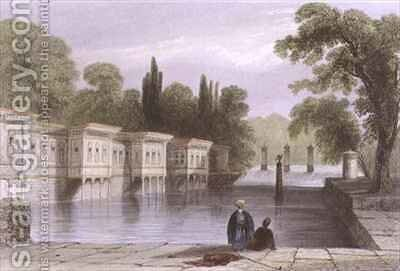 The Palace of the Sweet Waters, Istanbul by (after) Bartlett, William Henry - Reproduction Oil Painting