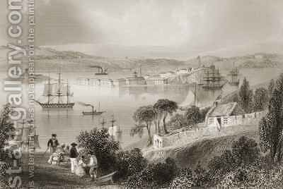 The Cove of Cork (now Cobh), County Cork, Ireland by (after) Bartlett, William Henry - Reproduction Oil Painting