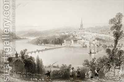 Londonderry, County Londonderry, Northern Ireland by (after) Bartlett, William Henry - Reproduction Oil Painting