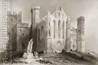 The Rock of Cashel, County Tipperary, Ireland 3 by (after) Bartlett, William Henry - Reproduction Oil Painting