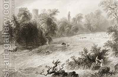 Castleconnell and Doonass Rapids, County Limerick, Ireland by (after) Bartlett, William Henry - Reproduction Oil Painting