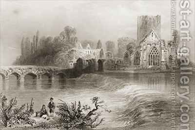 Holycross Abbey, County Tipperary, Ireland by (after) Bartlett, William Henry - Reproduction Oil Painting